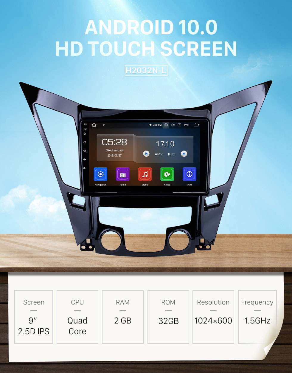 Seicane 9 Inch Android 10.0 Touch Screen GPS Navigation system For 2011-2015 HYUNDAI Sonata i40 i45 with Bluetooth 4G WiFi Video Radio TPMS DVR OBD II Rear camera AUX USB SD Steering Wheel Control