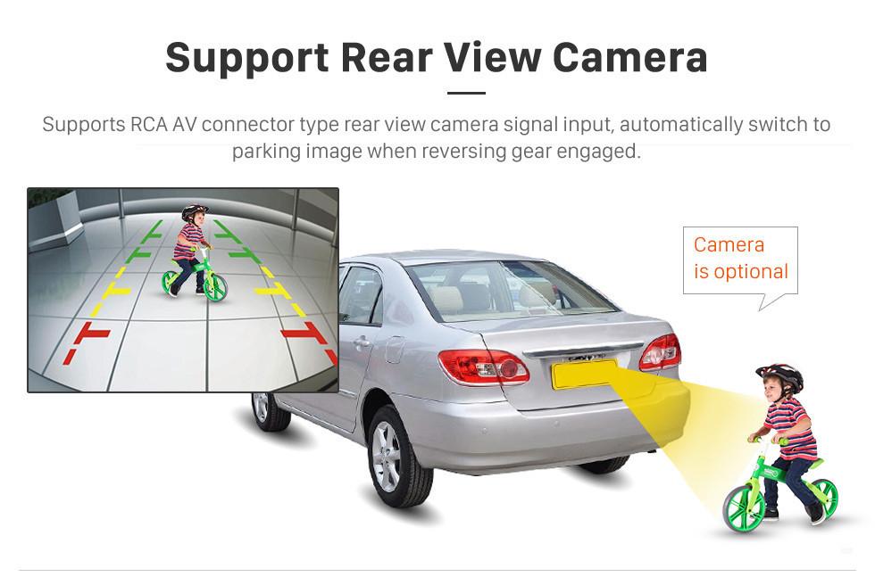 Seicane 7 pouces Android 10.0 HD écran tactile Radio de navigation GPS universelle avec Bluetooth WIFI supporte le contrôle vidéo du volant 1080P