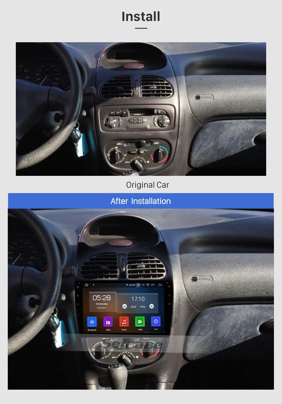 Seicane 2000-2016 PEUGEOT 206 Android 9.0 9 pouces Écran tactile Tête Unité GPS Navi Radio SWC Bluetooth FM Lien de miroir Wifi Carplay USB Sauvegarde Arrière vue Soutien Lecteur de DVD