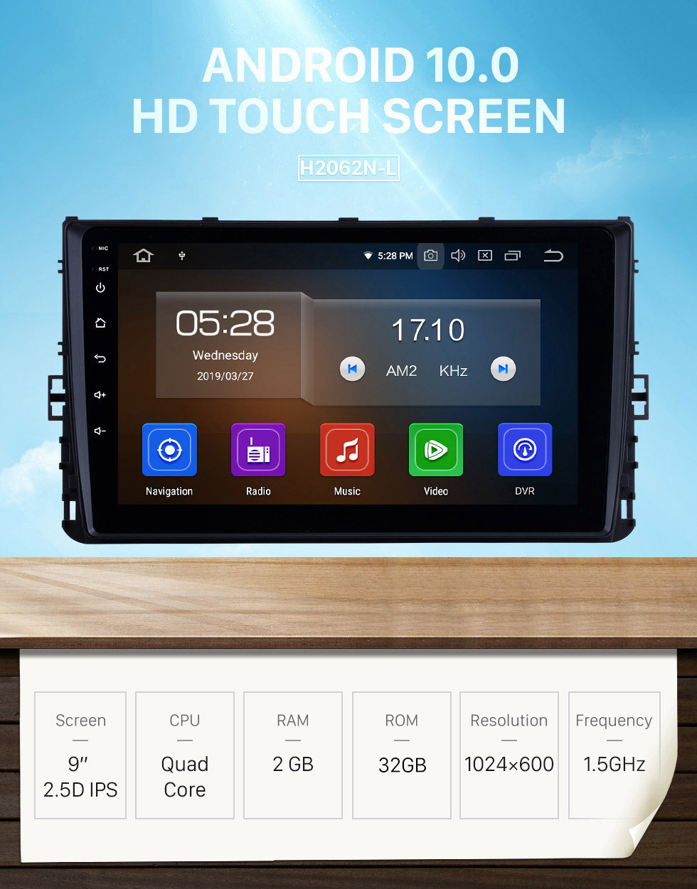 Seicane OEM 9 inch Android 10.0 HD Touchscreen GPS navigation system Radio For 2018 VW Volkswagen Universal Bluetooth Support 3G/4G WiFi DVR OBD II Carplay Steering Remote Control