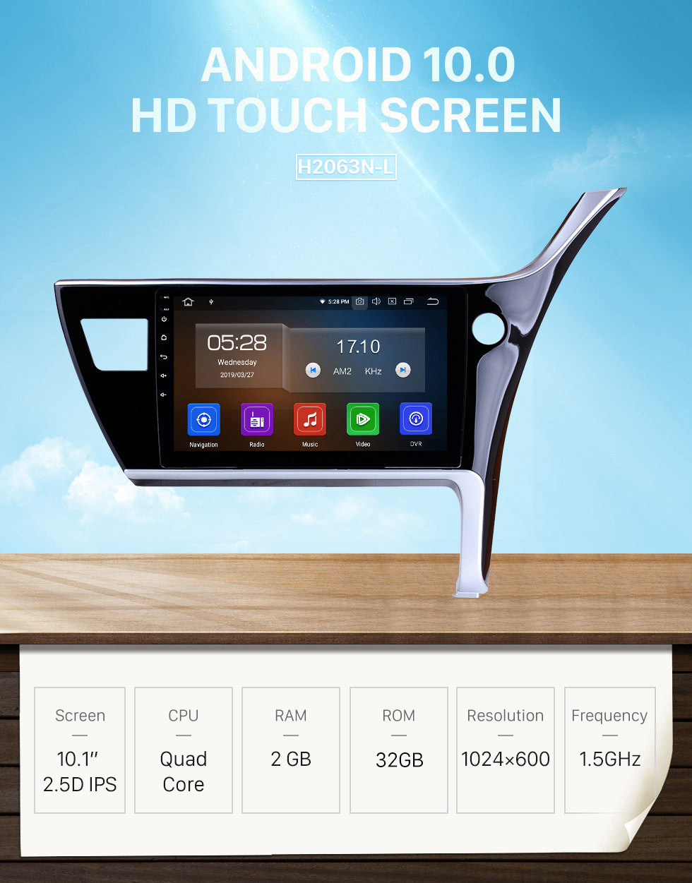 Seicane 10.1 inch Android 10.0 2017 Toyota Corolla Right Hand driving Car Head unit HD Touchscreen Radio GPS Navigation System Support 3G/4G Wifi Steering Wheel Control Vedio Carplay Bluetooth DVR