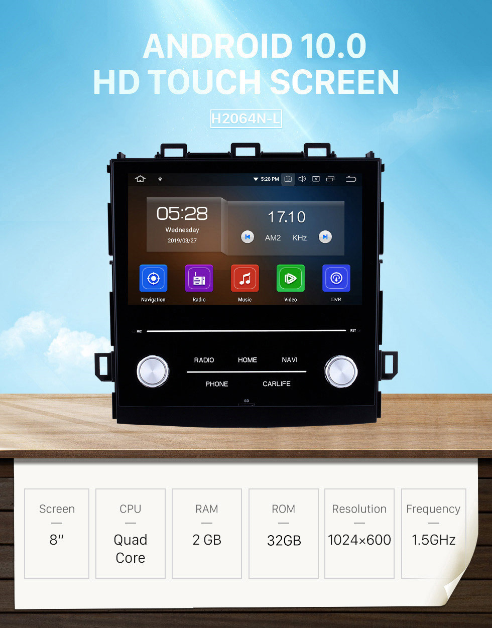 Seicane 8 Inch HD Touchscreen Android 10.0 2018 Subaru XV Car Stereo Radio Head Unit GPS Navigation Bluetooth Music Support WIFI OBD2 Rearview Camera Steering Wheel Control