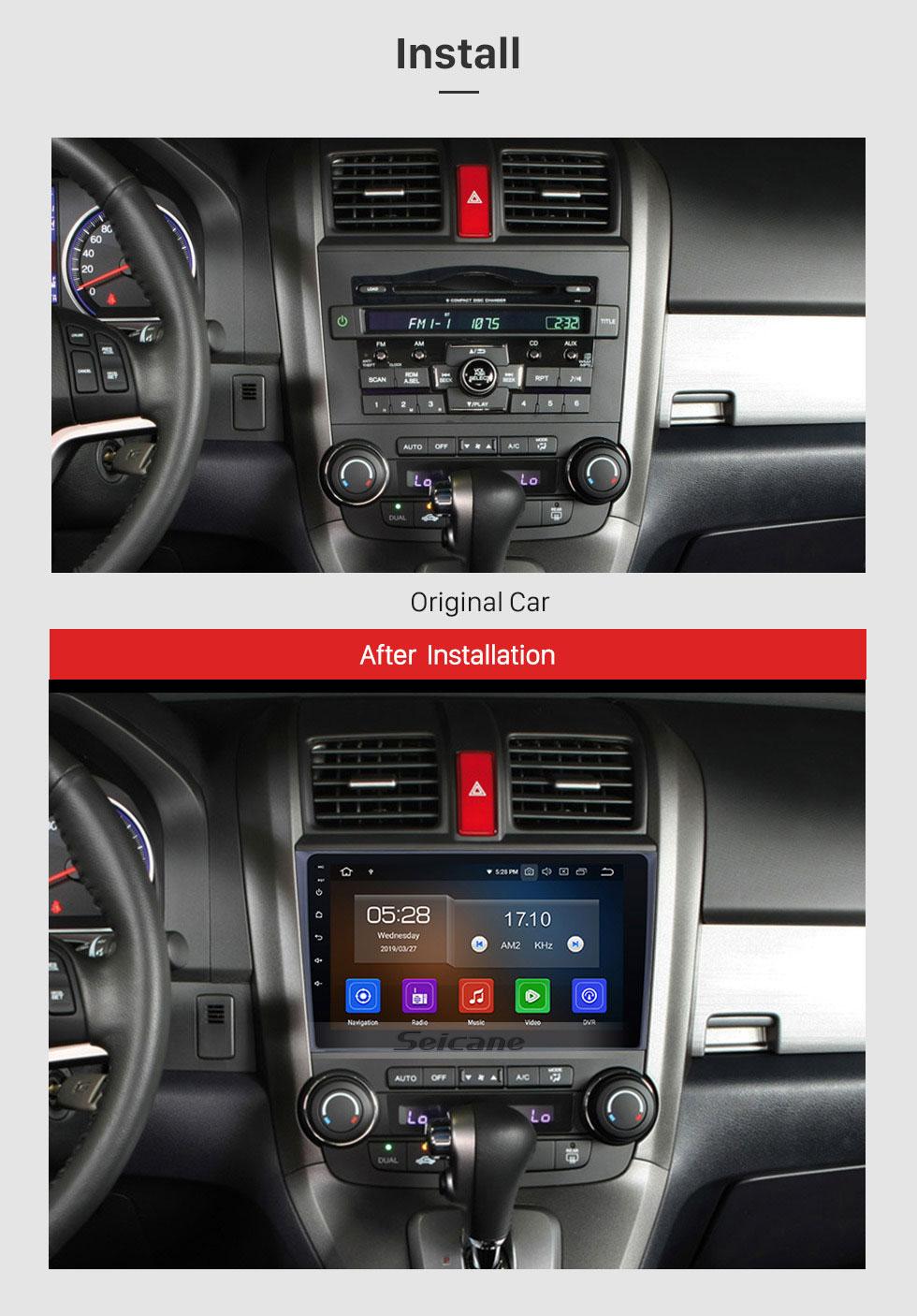Seicane 2006-2011 HONDA CRV 9 inch Andriod 10.0 Radio GPS Navigatin System with bluetooth Digital TV Mirror Link OBD2 DVR Backup Camera TPMS RDS AUX Steering Wheel Control 4G Wifi