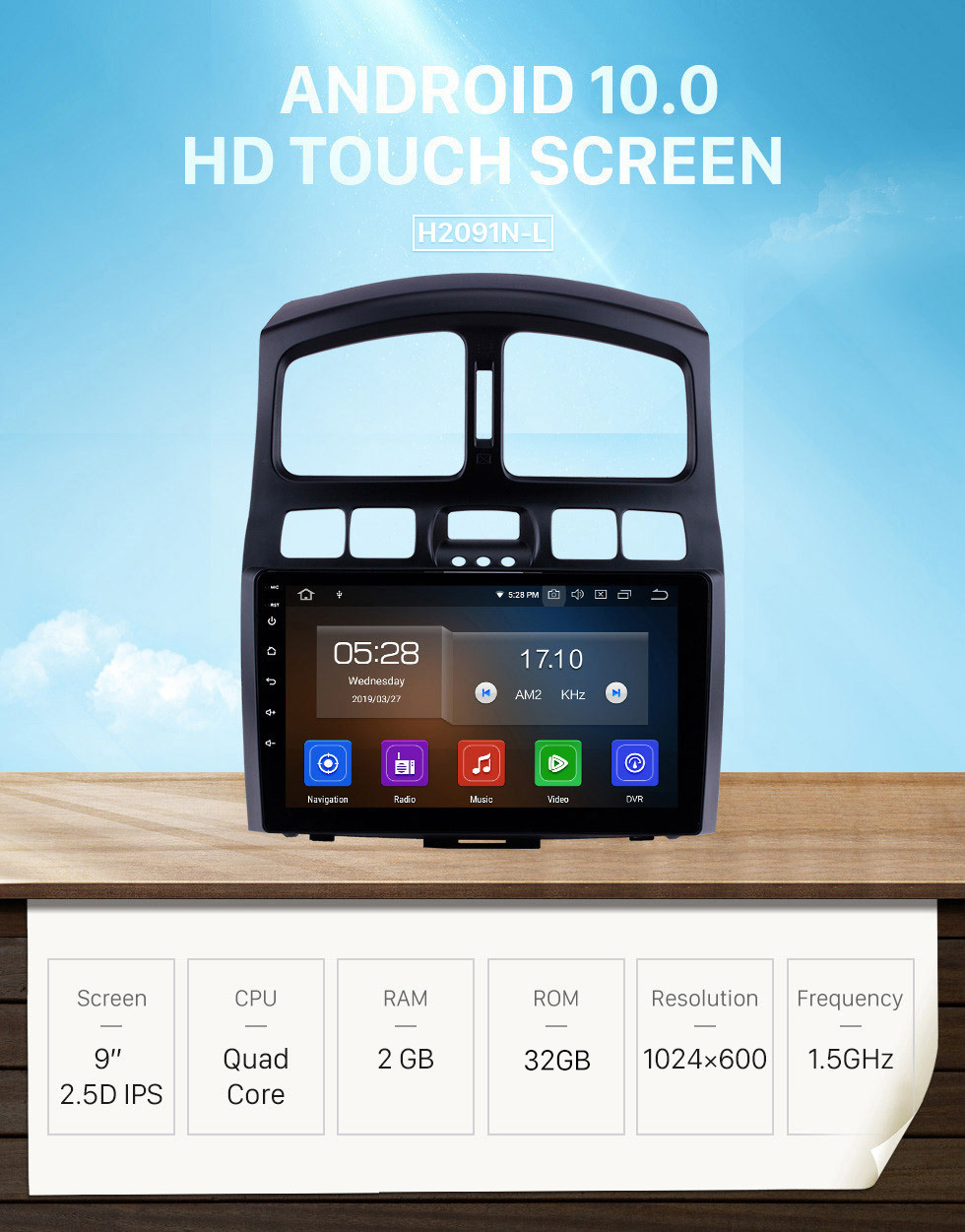 Seicane HD Touchscreen 9 inch Android 10.0 GPS Navigation auto Stereo for 2005 2006 2007 2008 2009-2015 Hyundai Santa Fe Bluetooth Phone Mirror Link WIFI USB Carplay support DVR