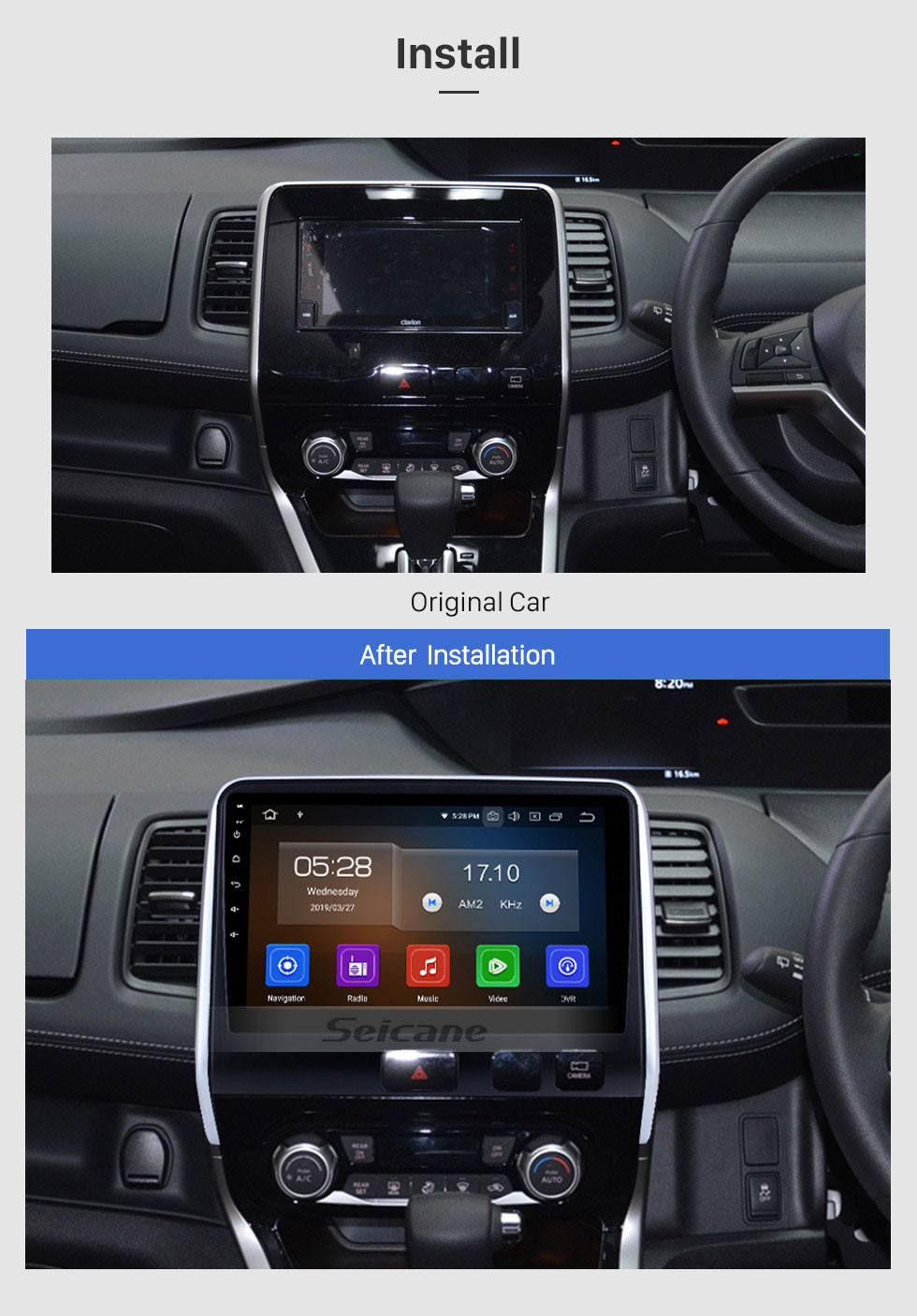 Seicane Aftermarket Android 10.0 HD Touchscreen 10.1 inch Radio for 2016 2017 2018 Nissan Serena Bluetooth GPS Navigation Head unit support 3G/4G wifi DVD Player Carplay 1080P