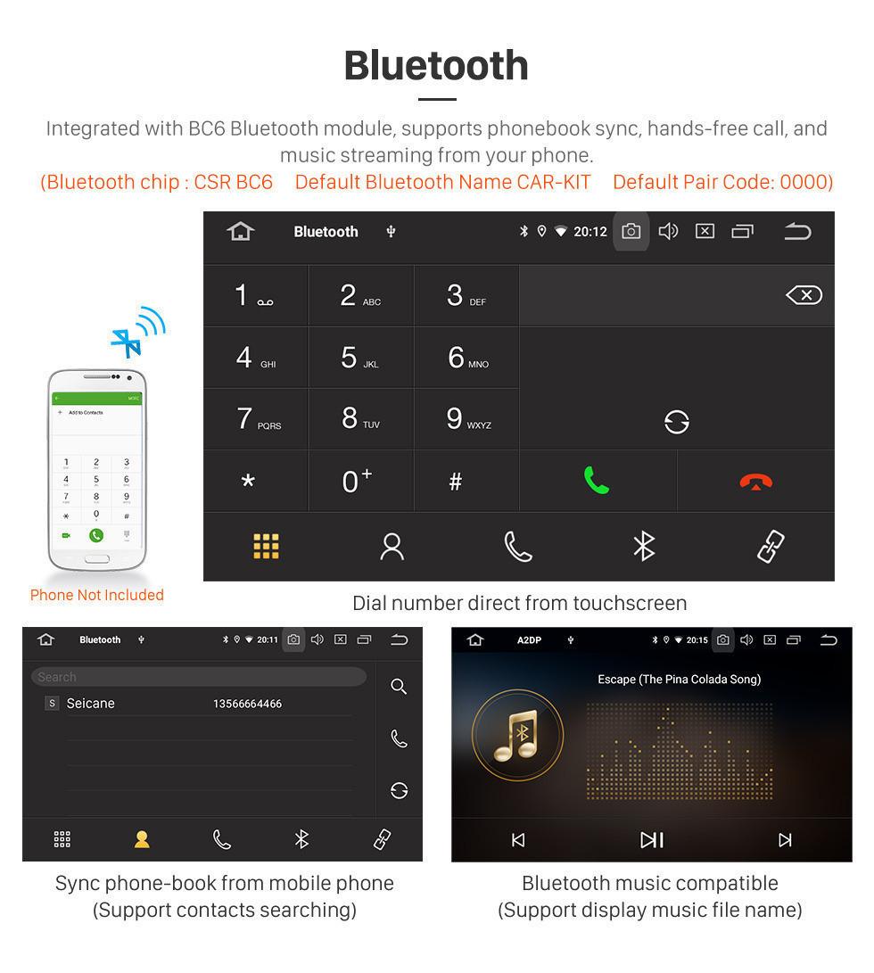 Seicane OEM 9 inch Android 10.0 Radio for 2016 2017 2018 Hyundai Starex H1 Wagon Bluetooth GPS Navigation Head unit HD Touchscreen 1080P video Steering Wheel Contol DVD Player Carplay 3G WIFI