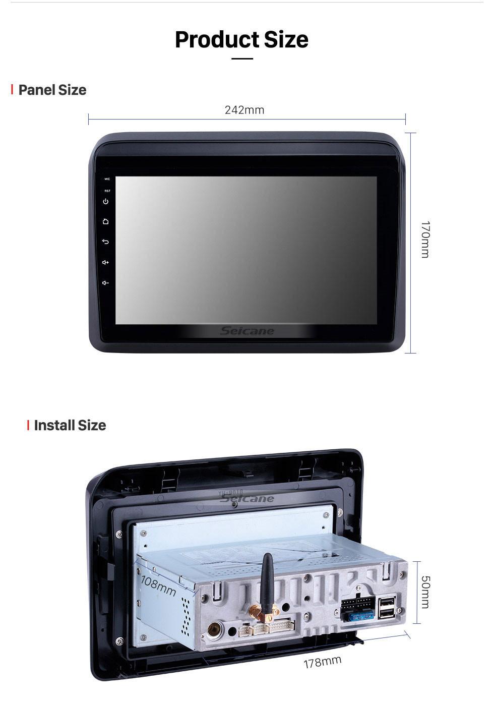 Seicane 9 Zoll HD Touchscreen 2018 2019 Suzuki ERTIGA Android 10.0 Radio mit GPS Navigationssystem Wlan USB Bluetooth Spiegel-Verbindung Unterstützung Backup Kamera DVR 1080 p DVD Spieler TPMS
