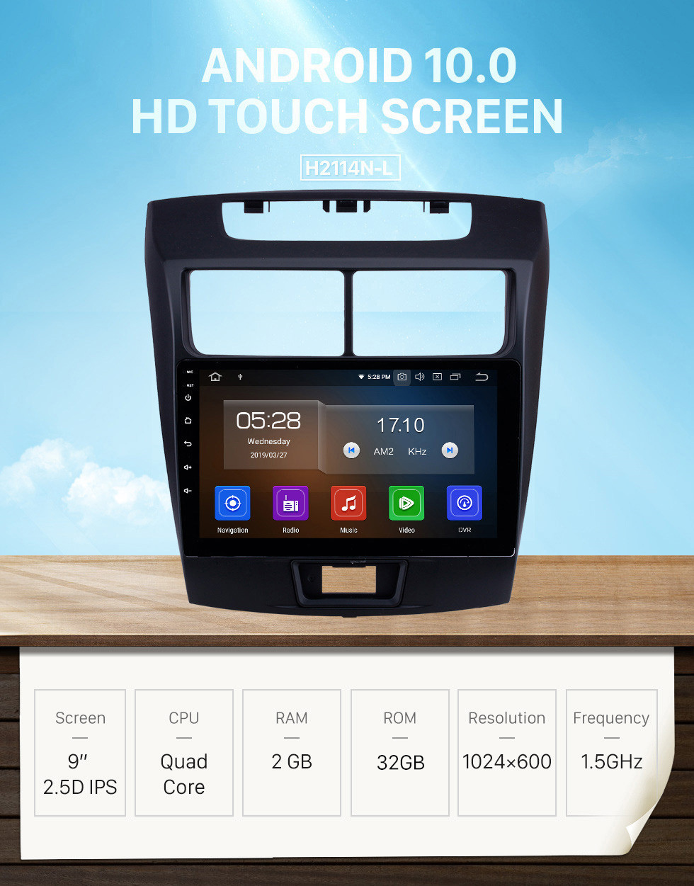Seicane Android 10.0 2010 2011 2012-2016 Toyota Avanza Car Radio 9 inch HD Touchscreen GPS Navigation with WIFI Bluetooth music 1080P Video USB support Carplay DVR TPMS DVD