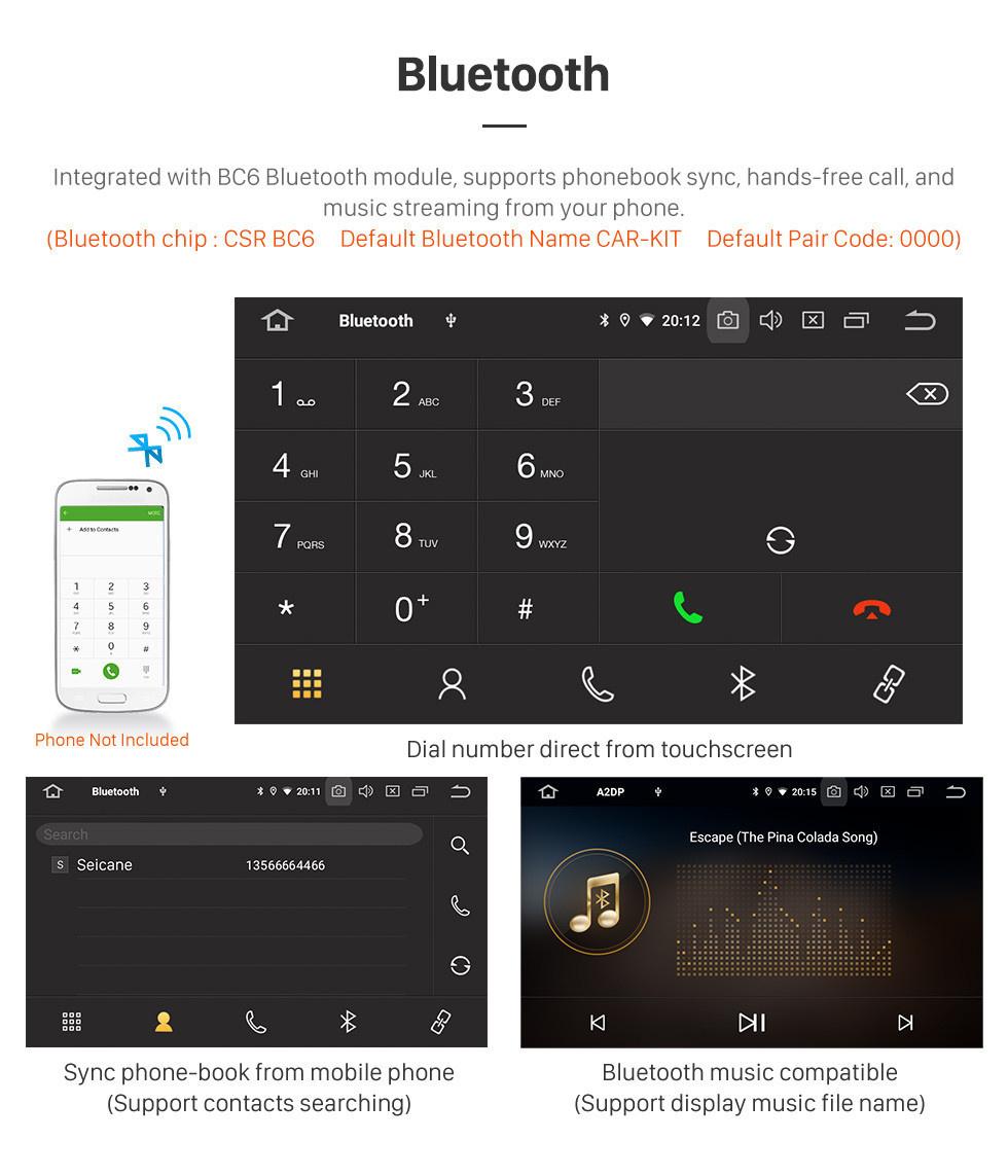 Seicane 2012-2015 Kia Rio LHD Android 10.0 9 Zoll GPS Navigationsradio Bluetooth HD Touchscreen USB Carplay Musikunterstützung TPMS DAB + 1080P Video Mirror Link