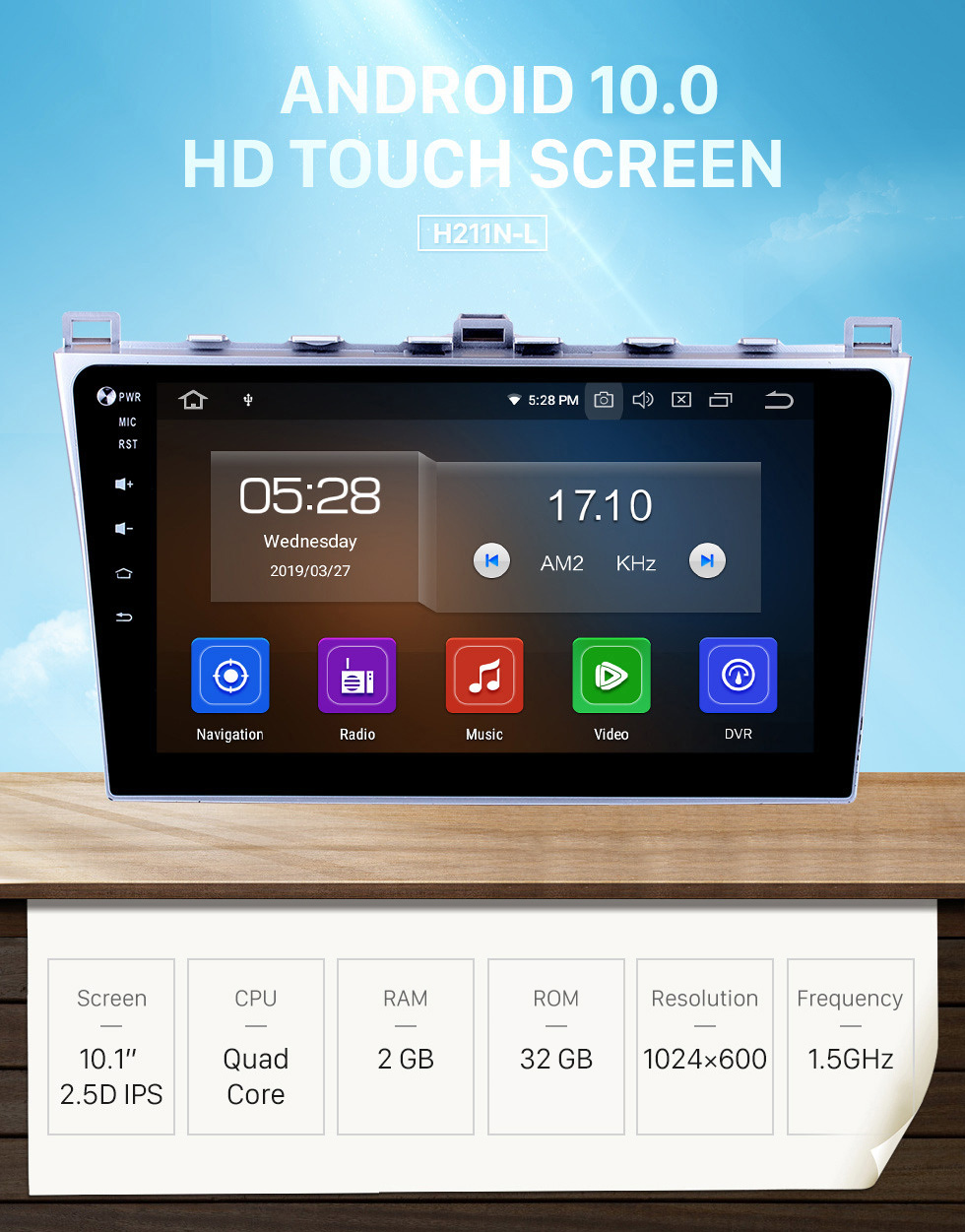 Seicane Écran tactile HD 2008-2015 Mazda 6 Android 10.0 Radio GPS Bluetooth Lien miroir TPMS DVR Caméra de recul TV 3G WIFI 16G Flash CPU Quad Core