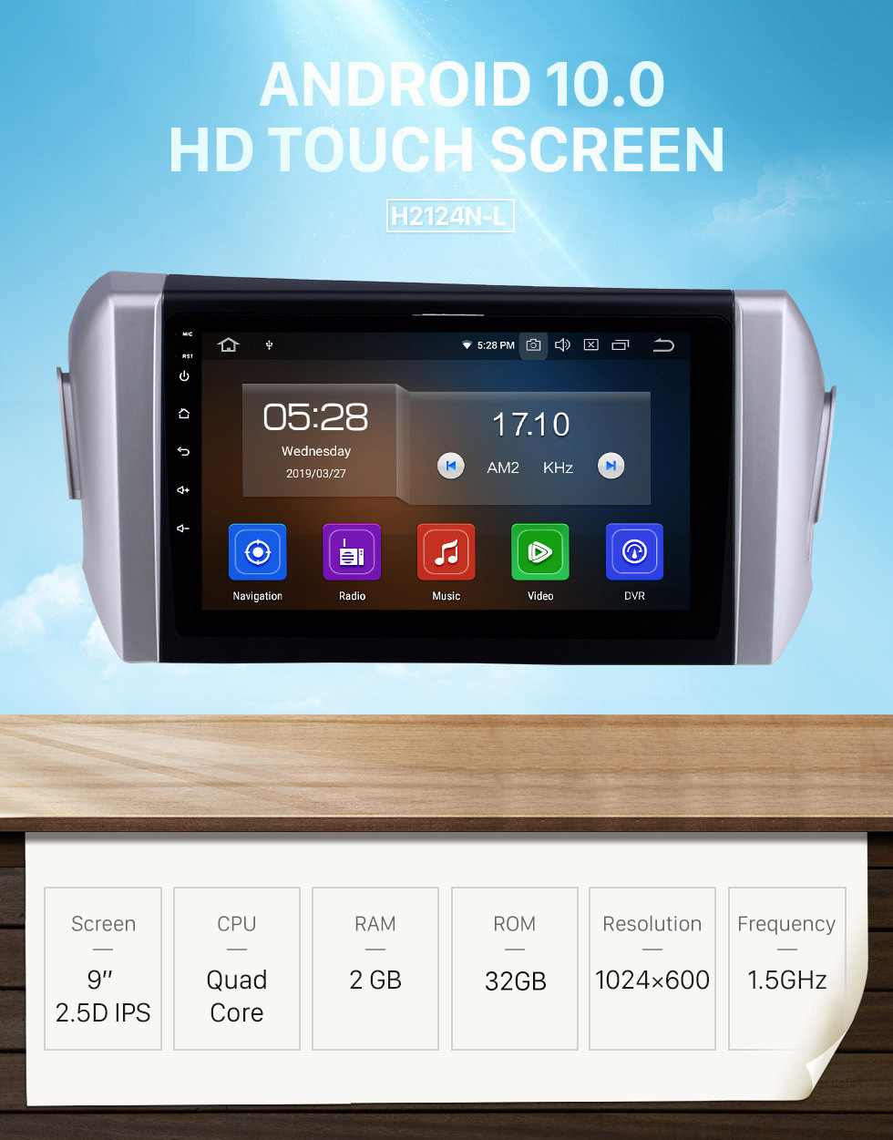 Seicane Android 10.0 HD Touchscreen 9 inch Bluetooth Radio GPS Navigation for 2015-2018 Toyota Innova LHD support SWC Rearview Camera DVD 1080P 4G WIFI