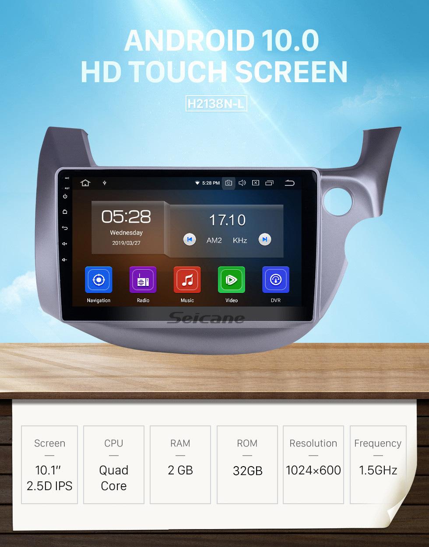 Seicane Android 10.0 10.1 inch 2007-2013 Honda FIT Jazz RHD Bluetooth Radio GPS Navigation HD Touchscreen Head Unit support SWC USB Carplay DVD TV 4G WIFI