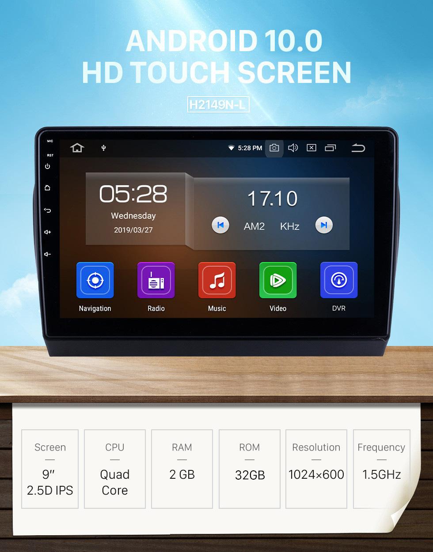 Seicane Android 10.0 HD Touchscreen 9 inch Radio for 2017 Toyota YARiS L Bluetooth GPS Navi USB Carplay DVR Digital TV TPMS OBD 4G WIFI DVD Player SWC RDS