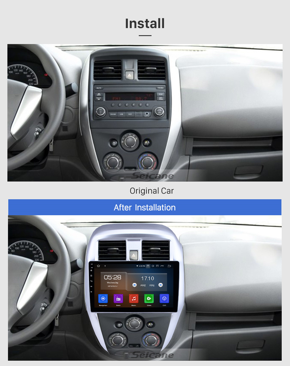 Seicane 2015 2016 Nissan Old SUNNY 10.1 inch Android 10.0 Radio GPS Navi Head unit  USB FM RDS Steering Wheel Control Bluetooth support 4G WIFI DVD 1080P