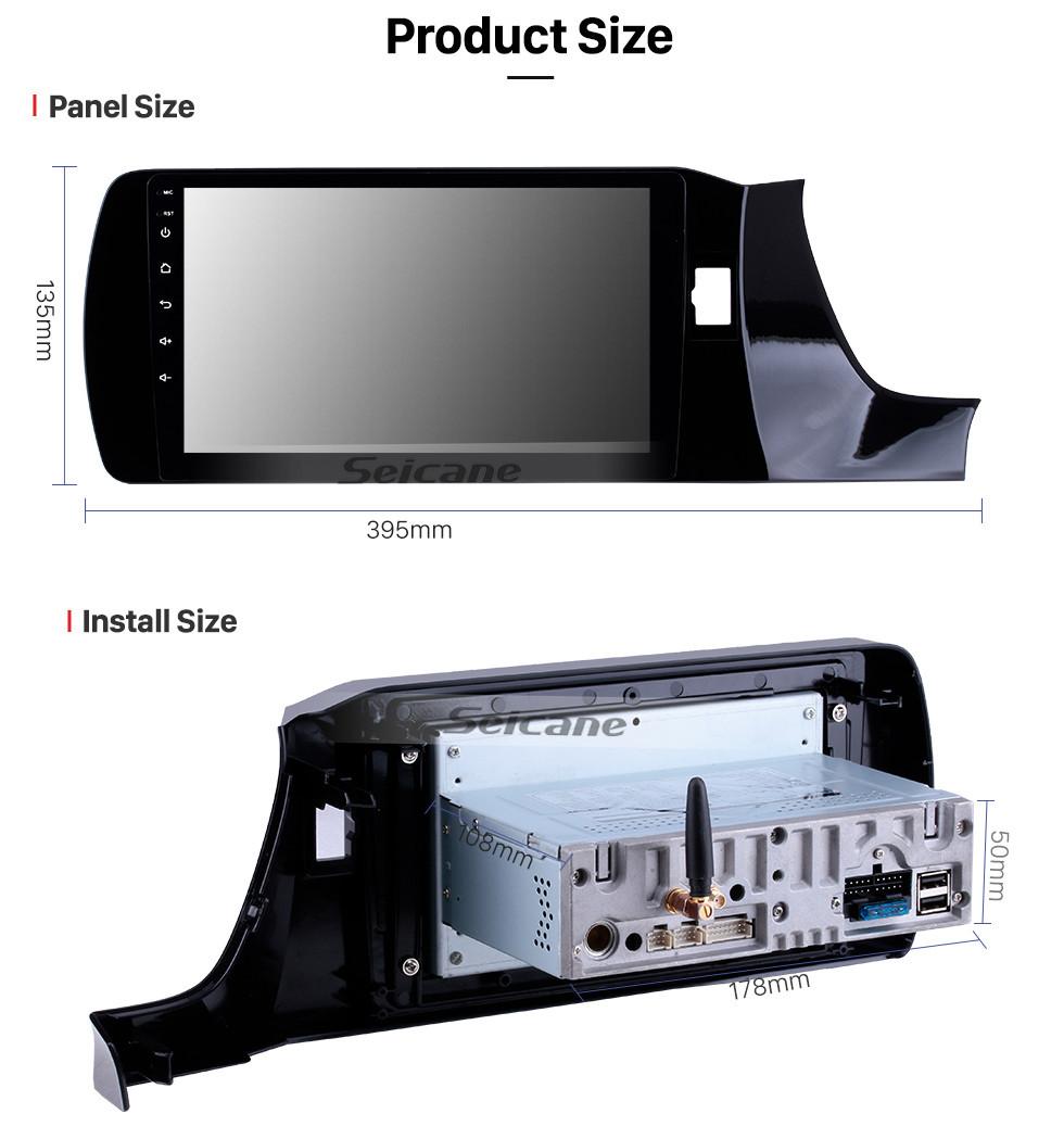 Seicane HD Touchscreen 2018-2019 Honda Amaze RHD 9 Inch Android 10.0 Car GPS Navigation System Auto Radio with WIFI Bluetooth music USB FM Support SWC Digital TV OBD2 DVR