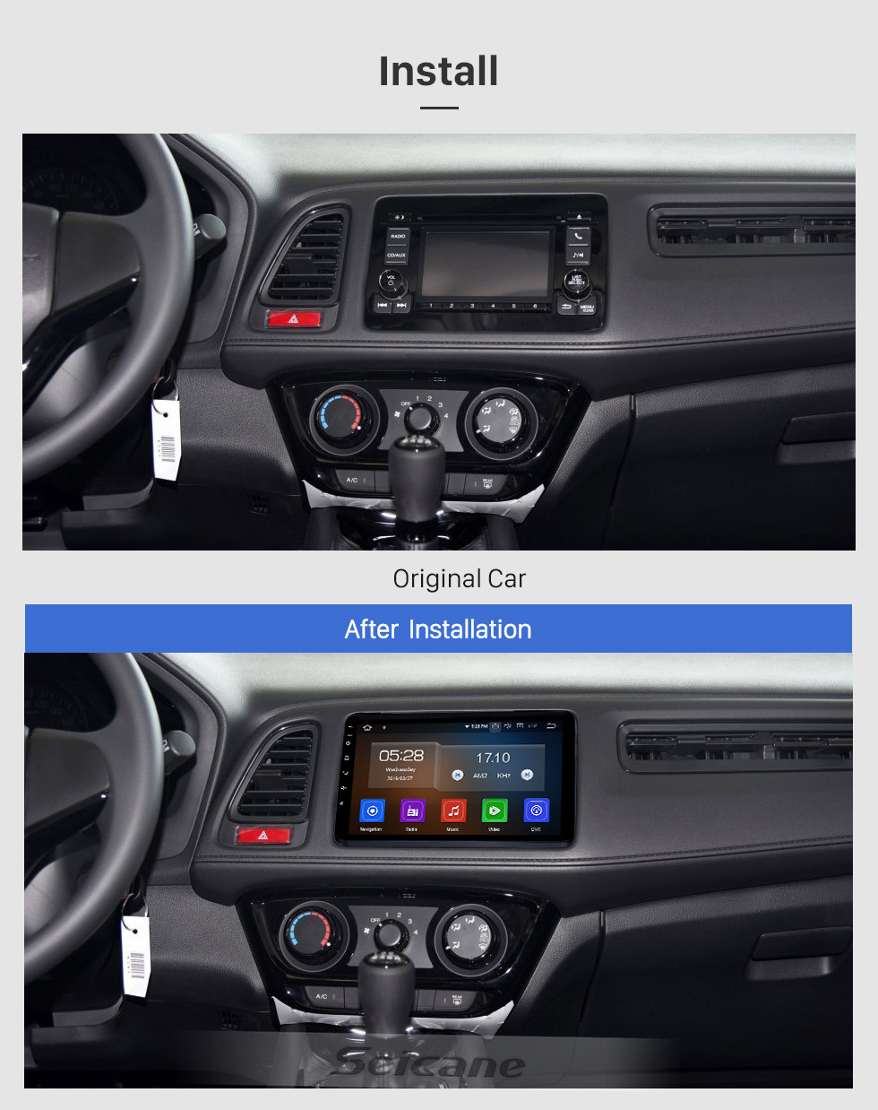 Seicane 9 inch 2015-2017 HONDA VEZEL XVR Android 10.0 GPS Navigation System with Bluetooth WIFI Radio support OBD2 USB Backup Camera Didital TV Steering wheel Control Mirror Link