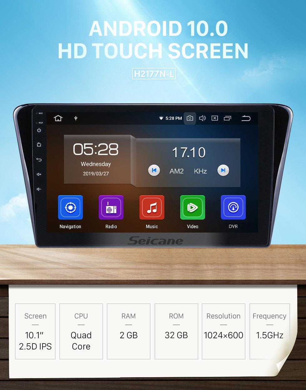 Seicane OEM 10.1 polegada Android 10.0 Rádio para 2014 Peugeot 408 Bluetooth Wi-fi HD Touchscreen Navegação GPS Carplay suporte USB OBD2 TV Digital 4G SWC RDS