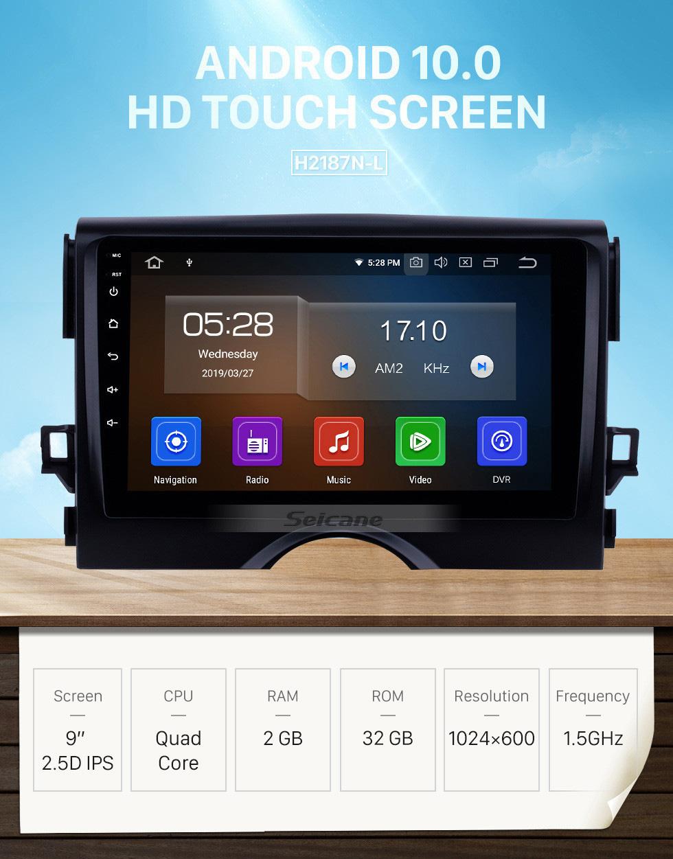 Seicane HD Touchscreen 2010 2011-2015 TOYOTA REIZ Mark X 9 inch Android 10.0 GPS Navigation Radio Bluetooth Carplay Music AUX support TPMS SWC OBD2 DVR