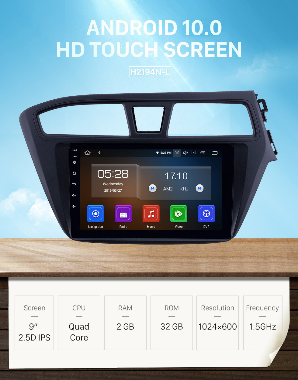 Seicane Hot Selling Android 10.0 9 inch 2014-2017 Hyundai i20 RHD Radio with GPS Navigation Touchscreen Carplay WIFI Bluetooth USB support Mirror Link 1080P