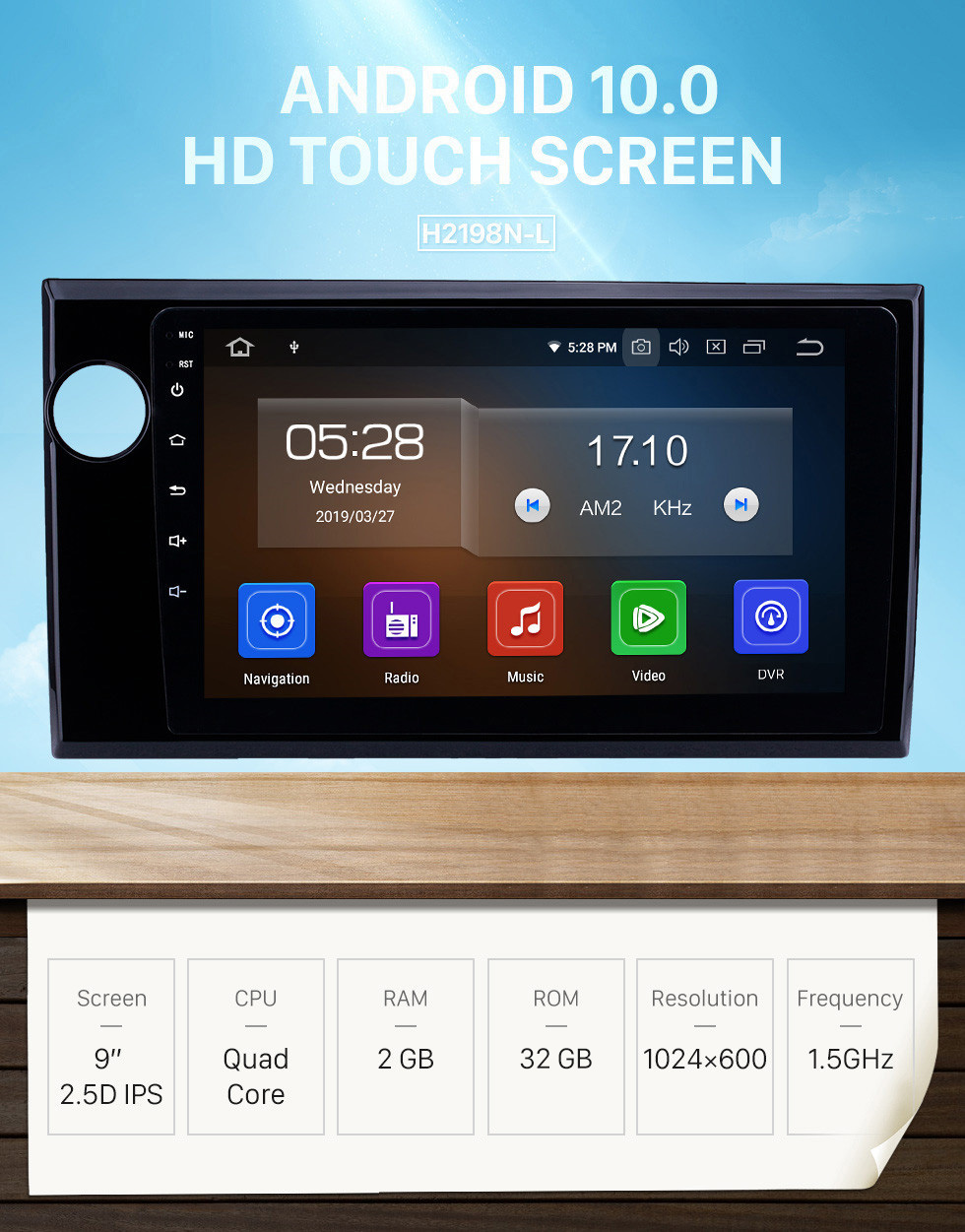 Seicane OEM 9 inch Android 10.0 Radio for 2015-2017 Honda BRV LHD Bluetooth Wifi HD Touchscreen Music GPS Navigation Carplay support DAB+ Rearview camera