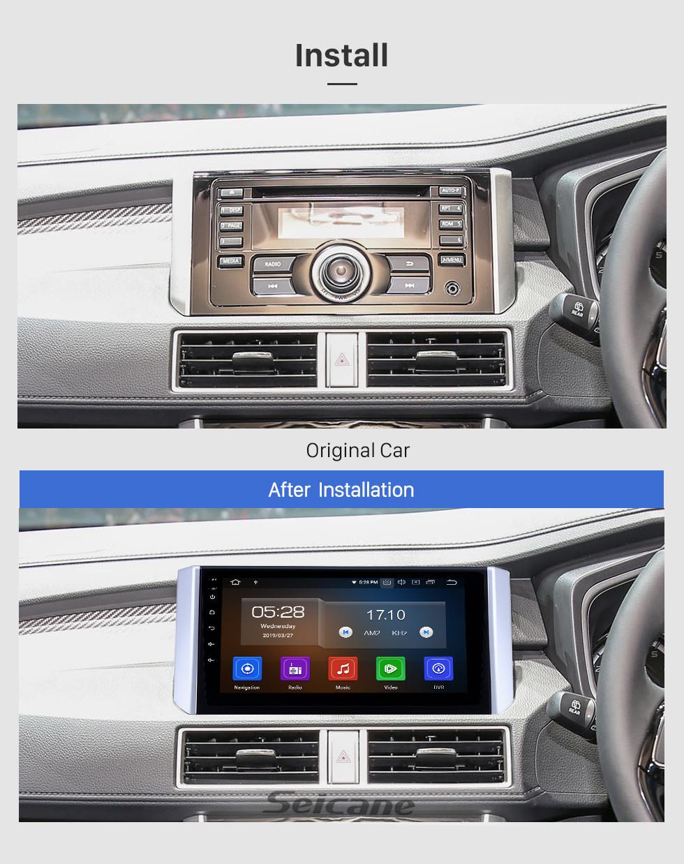 Seicane 2017-2018 Mitsubishi Xpander Android 10.0 9 inch GPS Navigation Radio Bluetooth HD Touchscreen USB Carplay Music AUX support TPMS OBD2 Digital TV