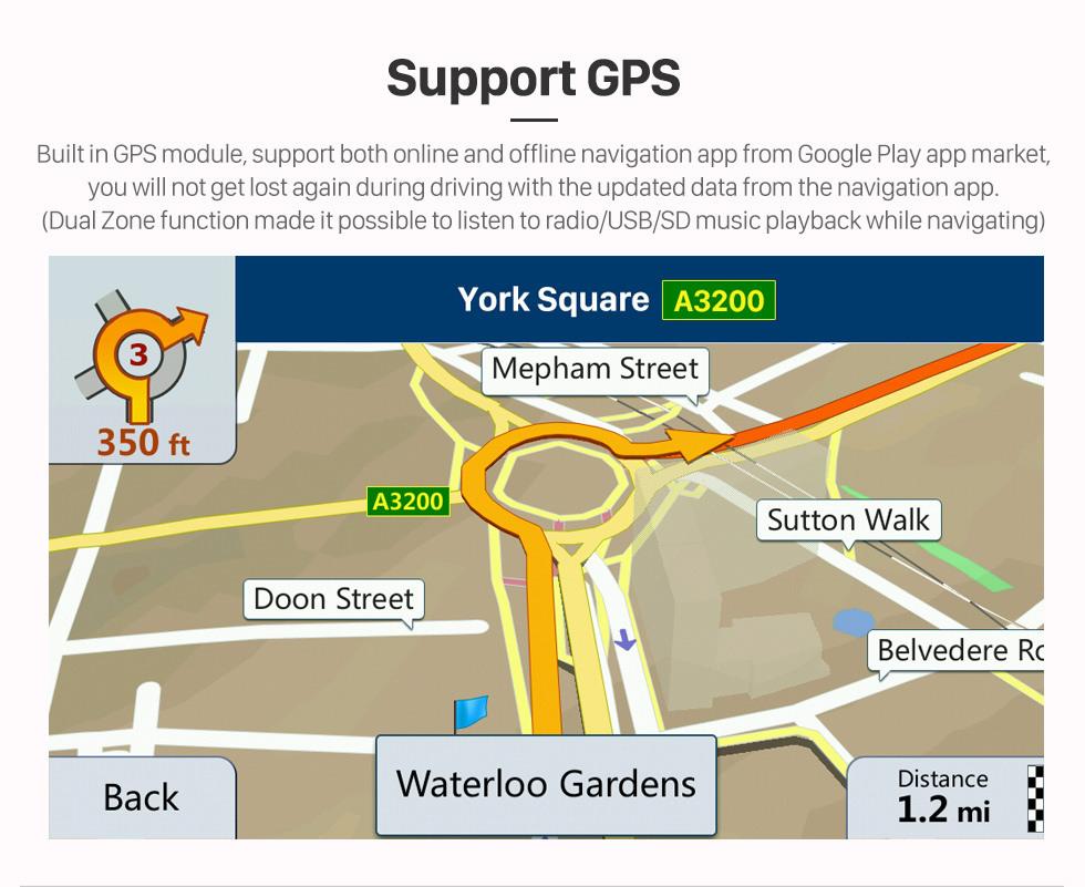 Seicane OEM 9 inch Android 10.0 Radio for 2013-2019 Toyota AGYA/WIGO Bluetooth Wifi HD Touchscreen GPS Navigation Carplay USB support OBD2 Digital TV TPMS DAB+