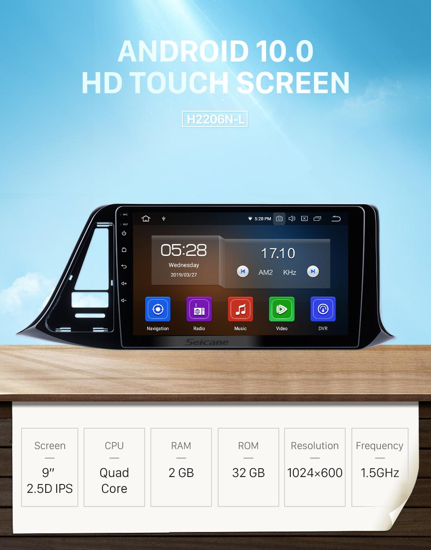 Seicane Android 10.0 9 inch 2018 2019 Toyota C-HR RHD HD Touchscreen GPS Navigation Radio with Bluetooth USB Music Carplay WIFI support Mirror Link OBD2 DVR