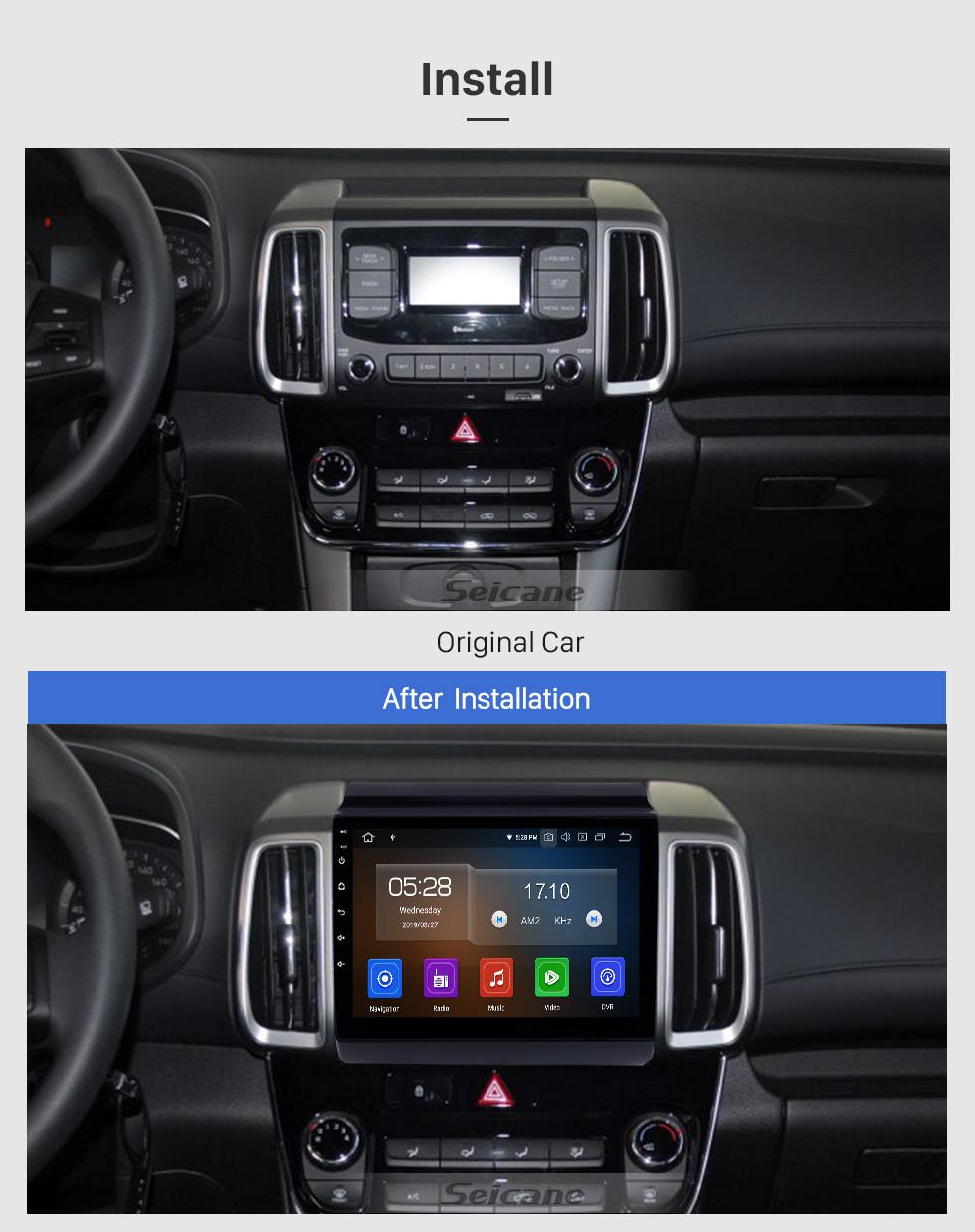 Seicane HD Touchscreen 2018-2019 Hyundai ix35 Android 10.0 9 inch GPS Navigation Radio Bluetooth Carplay AUX Music support SWC OBD2 Mirror Link Backup camera