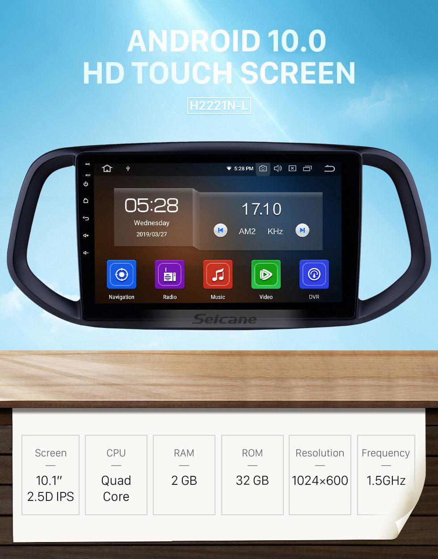 Seicane 10.1 inch Android 10.0 GPS Navigation Radio for 2014 2015 2016 2017 Kia KX3 Bluetooth Wifi HD Touchscreen Music Carplay support Backup camera 1080P