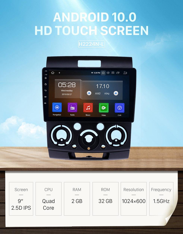 Seicane OEM 9 inch Android 10.0 GPS Navigation Radio for 2006-2010 Mazda BT-50 Bluetooth HD Touchscreen Carplay USB support Backup camera Digital TV