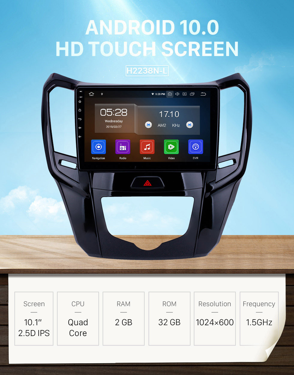 Seicane 10.1 inch Android 10.0 GPS Navigation Radio for 2014 2015 Great Wall M4 Bluetooth Wifi HD Touchscreen Carplay support DAB+ Steering Wheel Control