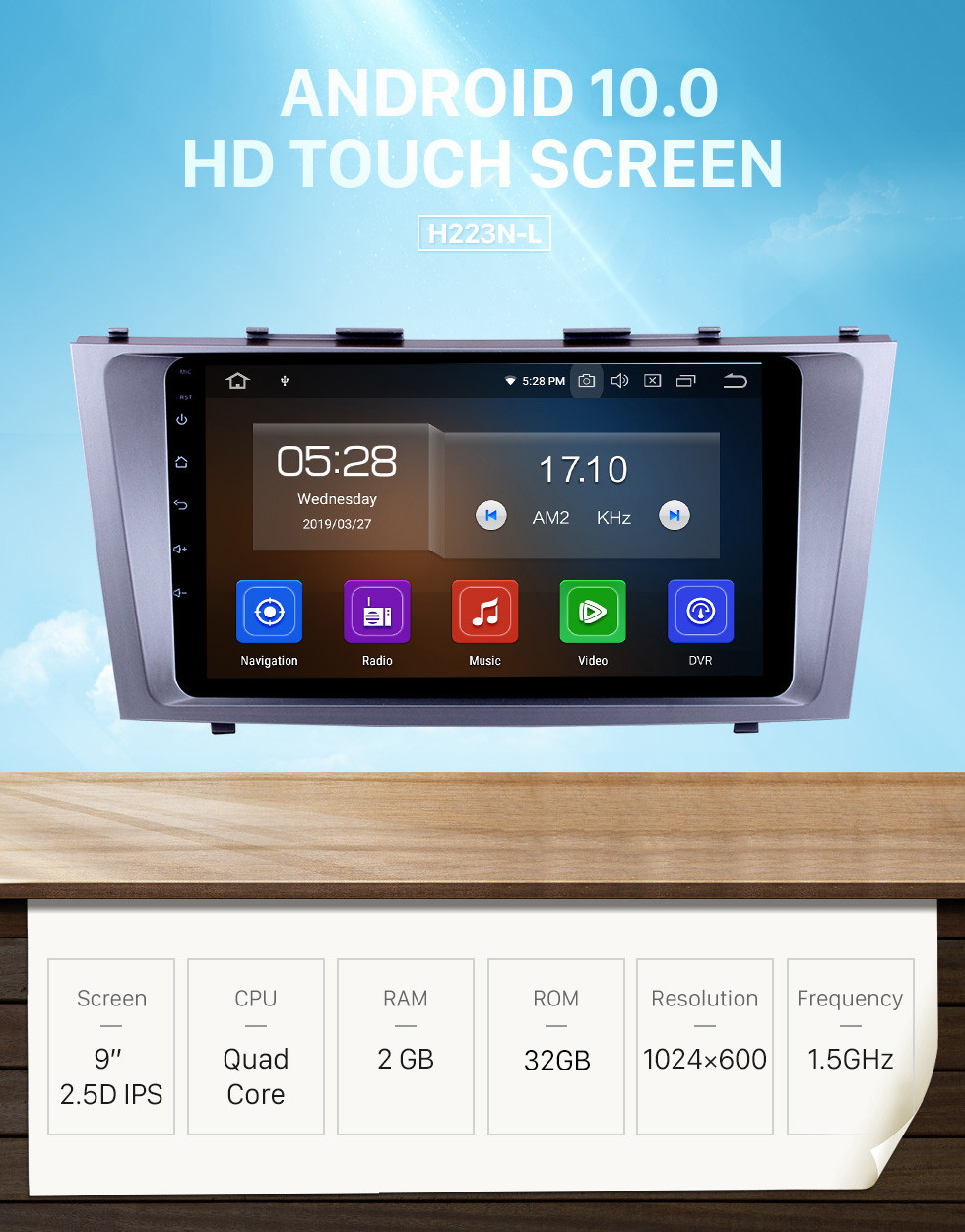 Seicane 9 inch Android 10.0 GPS Radio Bluetooth Stereo Navigation DVD player For 2007 2008 2009 2010 2011 TOYOTA CAMRY with HD Touchscreen WIFI Steering Wheel Control