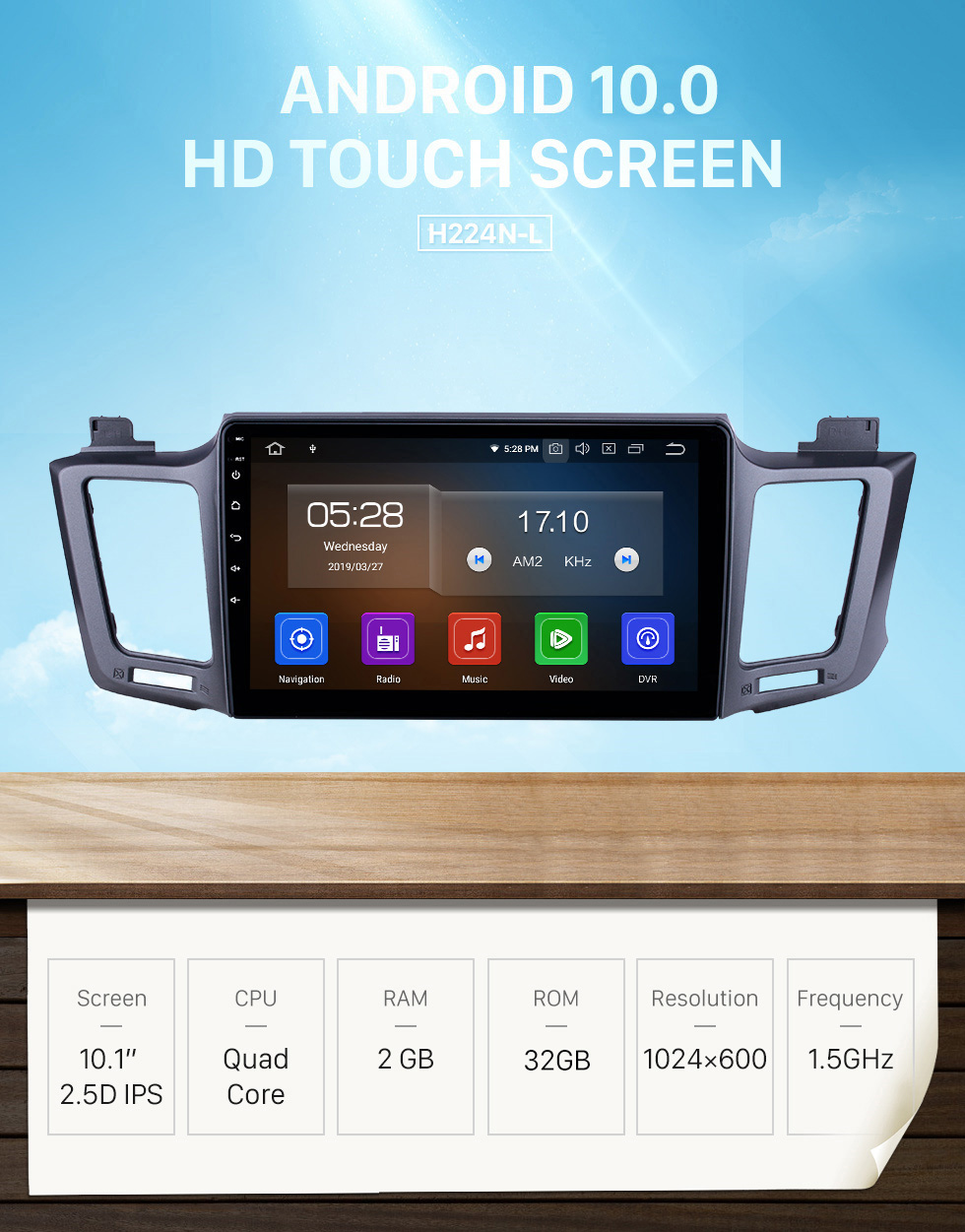Seicane 10.1 inch Android 10.0 GPS Navigation Radio for 2013-2016 Toyota RAV4 LHD with HD Touchscreen Carplay Bluetooth WIFI USB AUX support Mirror Link OBD2