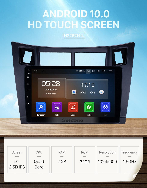 Seicane HD Touchscreen 2008-2011 Toyota Yaris Android 10.0 9 inch GPS Navigation Radio Bluetooth USB Carplay WIFI AUX support DAB+ Steering Wheel Control