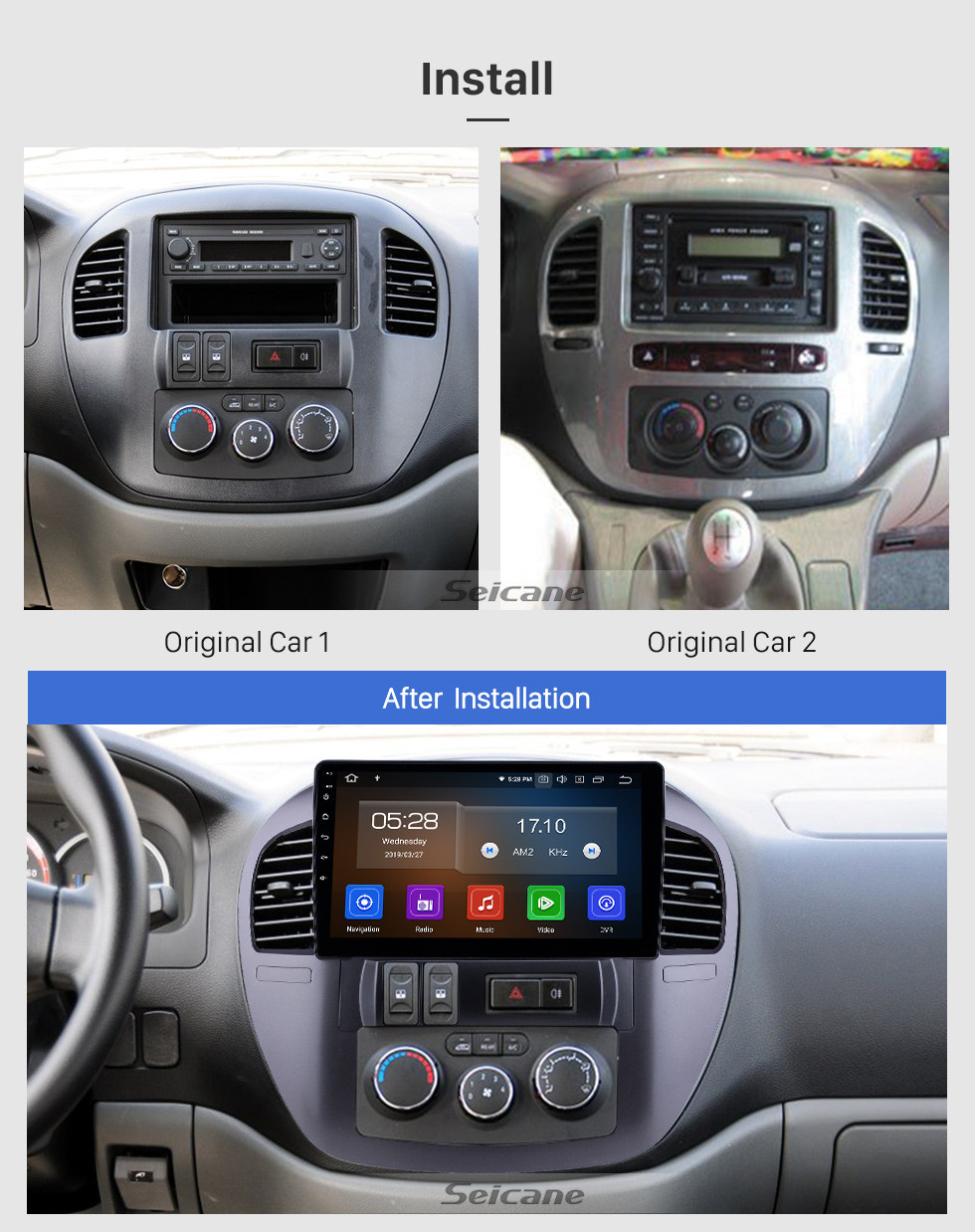 Seicane 10.1 inch 2008-2014 Fxauto LZLingzhi Android 10.0 GPS Navigation Radio Bluetooth Touchscreen AUX Carplay support OBD2 DAB+ 1080P Video