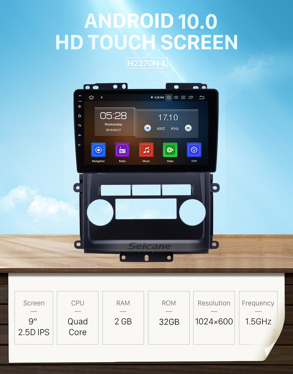 Seicane Android 10.0 9 inch GPS Navigation Radio for 2009-2012 Nissan Frontier/Xterra with HD Touchscreen Carplay Bluetooth WIFI support TPMS Digital TV