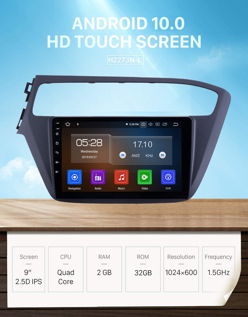 Seicane HD Touchscreen 2018-2019 Hyundai i20 LHD Android 10.0 9 inch GPS Navigation Radio Bluetooth Carplay WIFI support Steering Wheel Control