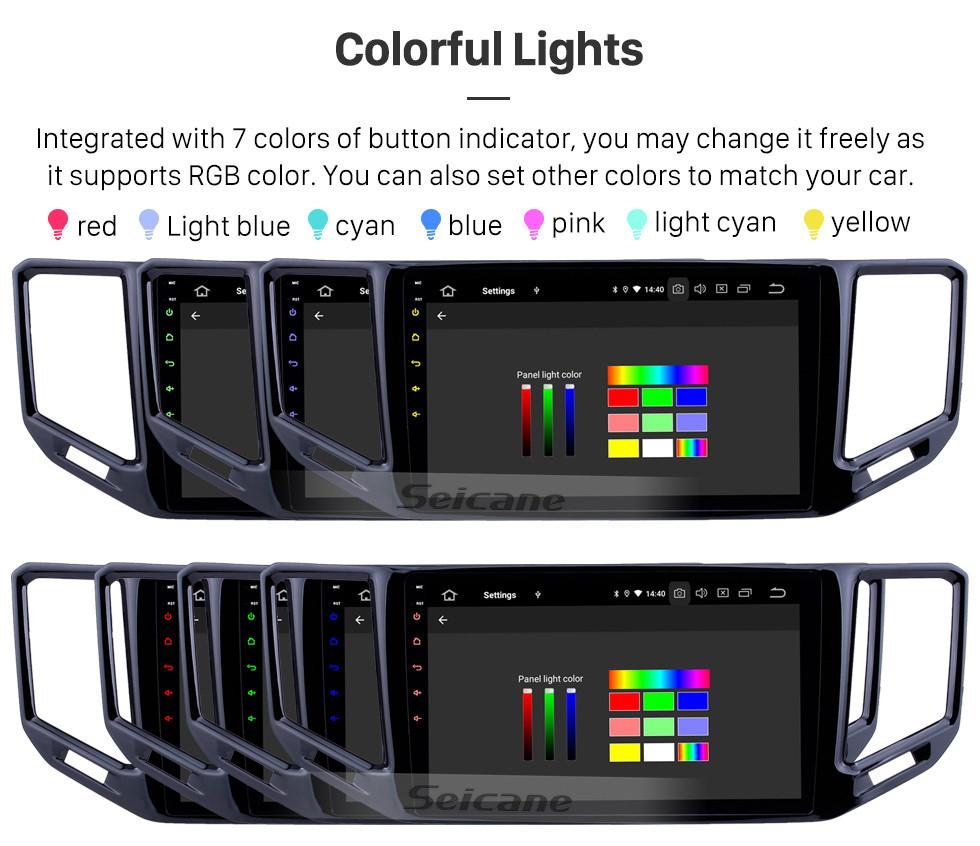Seicane 10,1-дюймовый Android 10.0 Radio для 2017-2018 VW Volkswagen Teramont Bluetooth HD с сенсорным экраном GPS-навигация Carplay Поддержка USB TPMS DAB + DVR