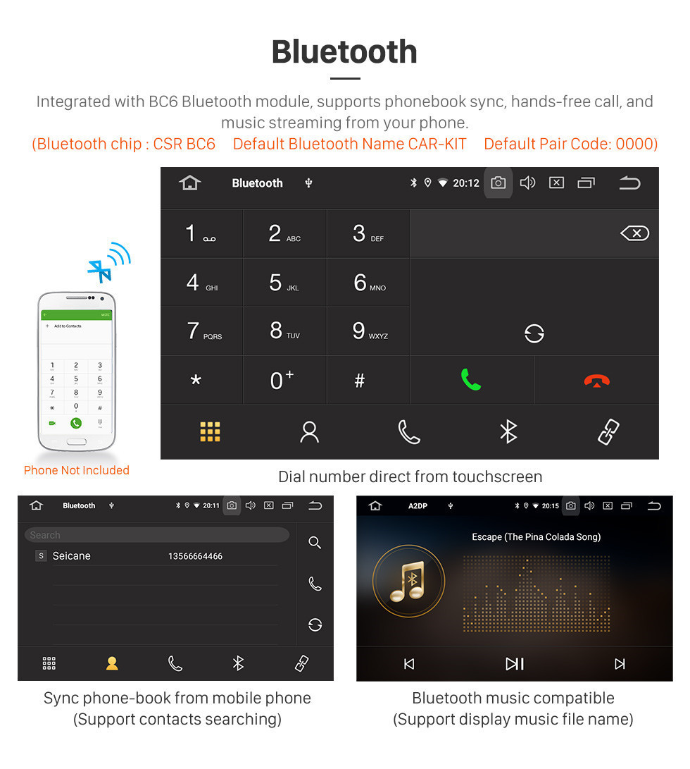 Seicane 8 inch Android 10.0 GPS Navigation Radio for 2005-2007 Mercedes-Benz G Class W467 G550 G500 G400 G320 G270 G55 Bluetooth HD Touchscreen Carplay support Digital TV