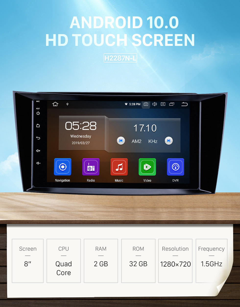 Seicane 8 inch Android 10.0 GPS Navigation Radio for 2001-2010 Mercedes Benz E-Class W211/CLS W219/CLK W209/G W463 Bluetooth HD Touchscreen Carplay support 1080P