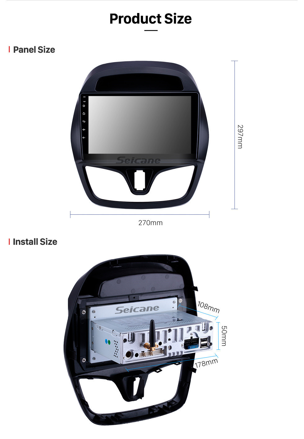 Seicane 2015-2018 chevy Chevrolet Spark Beat Daewoo Martiz Android 10.0 9 inch GPS Navigation Radio Bluetooth Touchscreen Carplay support TPMS 1080P