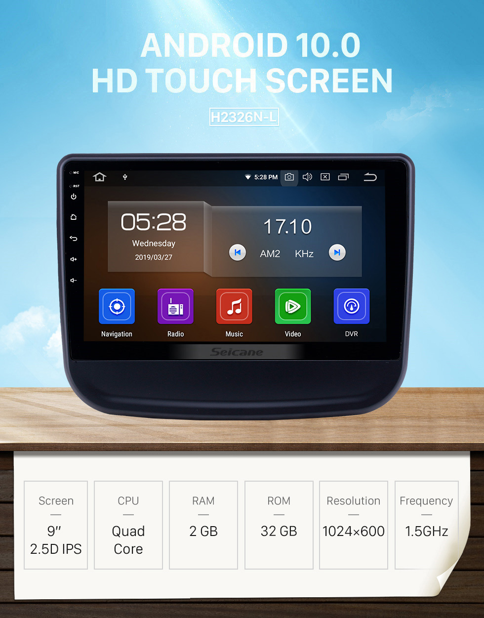 Seicane 10.1 inch Android 10.0 Radio for 2016-2018 chevy Chevrolet Equinox Bluetooth Touchscreen GPS Navigation Carplay support TPMS DAB+
