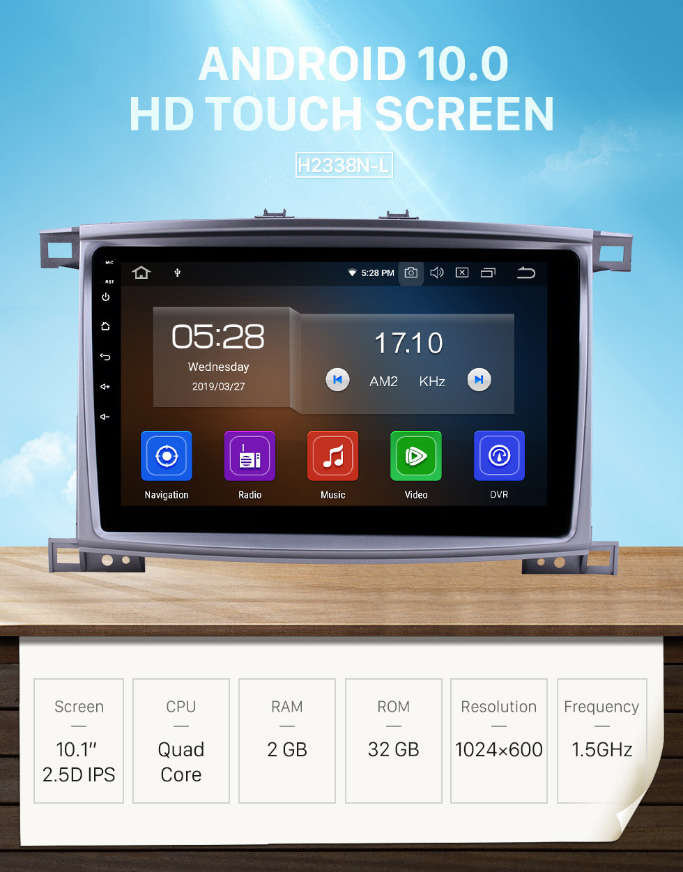 Seicane 10.1 inch Android 10.0 Radio for 2003-2008 Toyota Land Cruiser 100 Auto A/C Bluetooth Touchscreen GPS Navigation Carplay USB AUX support TPMS DAB+ SWC