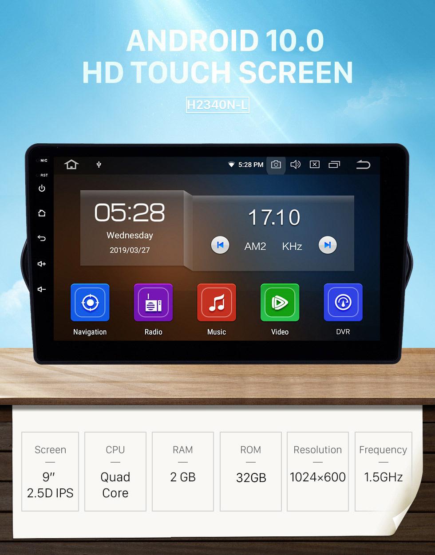 Seicane HD Touchscreen 2015-2018 Fiat EGEA Android 10.0 9 Zoll GPS Navigationsradio Bluetooth WIFI USB Carplay Unterstützung DAB + TPMS OBD2
