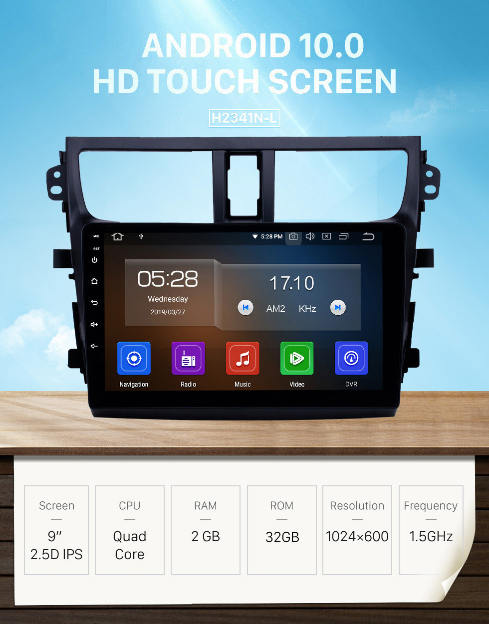 Seicane 9 inch Android 10.0 GPS Navigation Radio for 2015-2018 Suzuki Celerio with HD Touchscreen Carplay AUX Bluetooth support TPMS