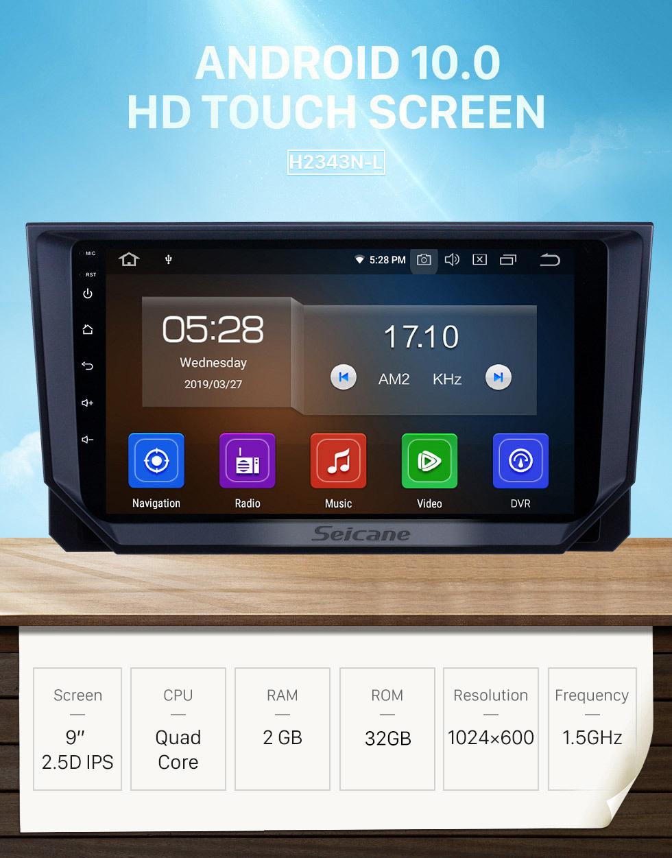 Seicane Android 10.0 9-дюймовый GPS-навигатор для 2018 Seat Ibiza с сенсорным экраном HD Carplay USB Bluetooth Поддержка DVR OBD2 Цифровое ТВ