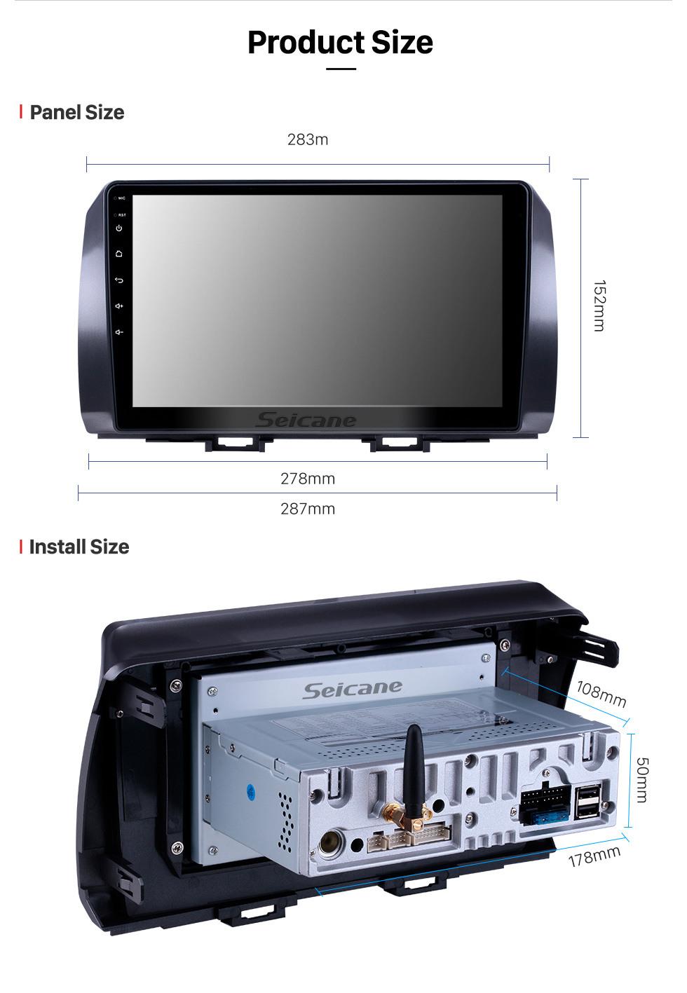 Seicane 10.1 polegada Android 10.0 Rádio para 2006 Toyota B6 / 2008 Subaru DEX / 2005 Daihatsu WO Bluetooth Touchscreen Navegação GPS Carplay apoio SWC