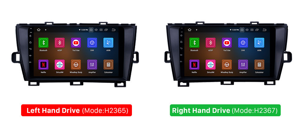 Seicane HD Touchscreen 2009-2013 Toyota Prius LHD Android 10.0 9 inch GPS Navigation Radio Bluetooth WIFI Carplay support DVR OBD2
