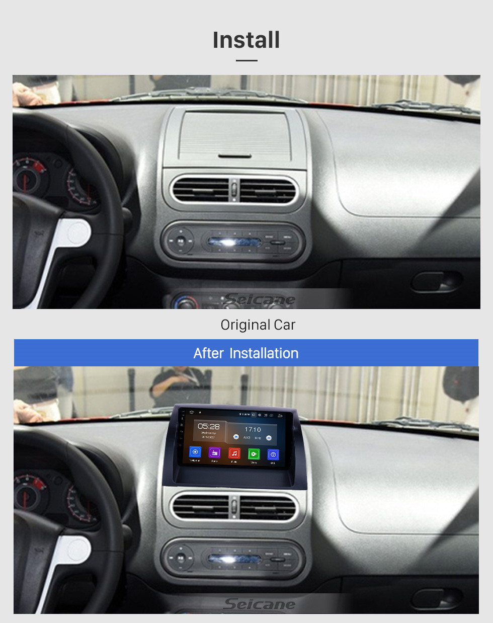 Seicane Android 10.0 9 inch GPS Navigation Radio for 2011-2016 MG3 with HD Touchscreen Carplay Bluetooth Mirror Link support TPMS Digital TV