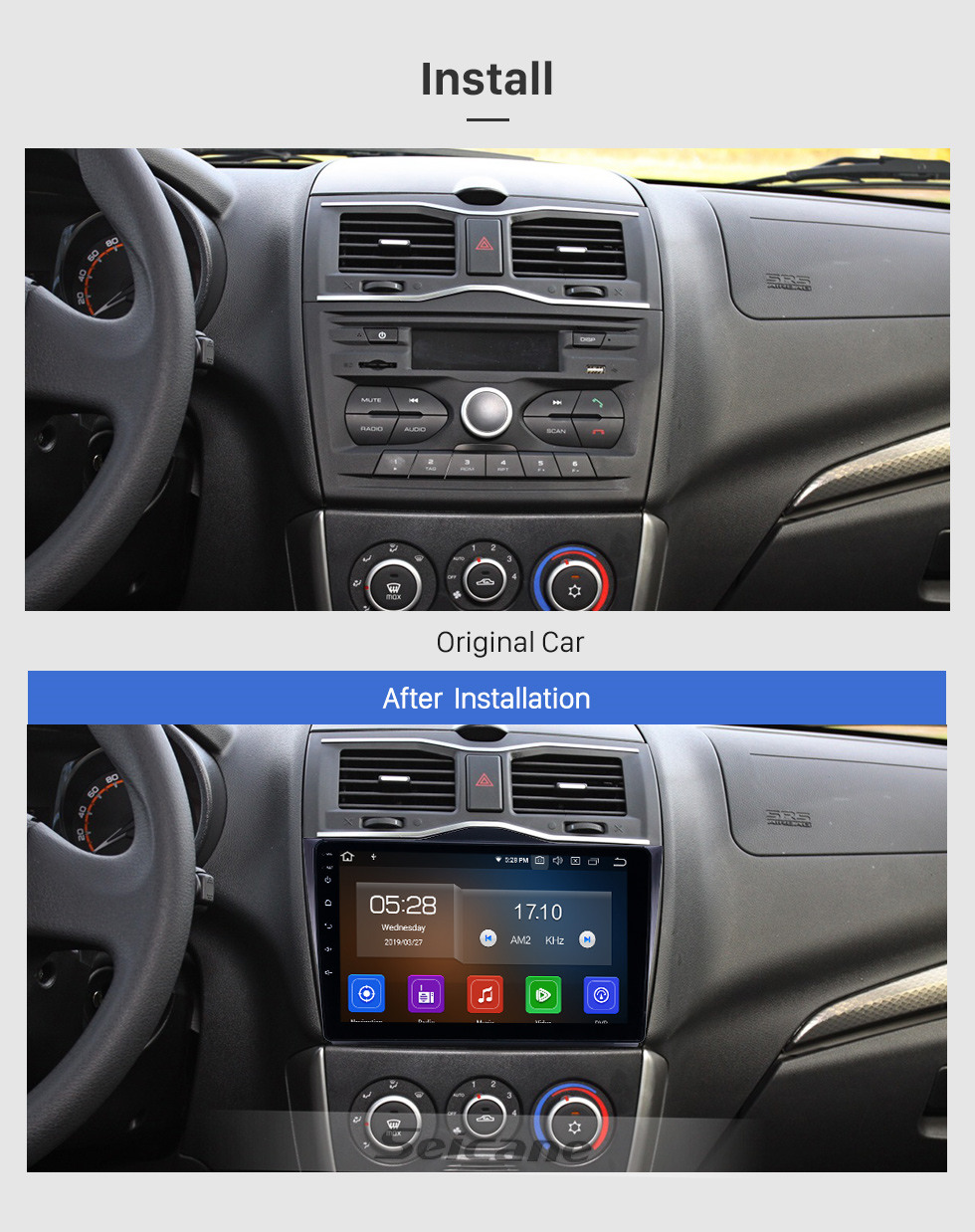 Seicane Android 10.0 9 inch GPS Navigation Radio for 2018-2019 Lada Granta with HD Touchscreen Carplay Bluetooth support TPMS Digital TV